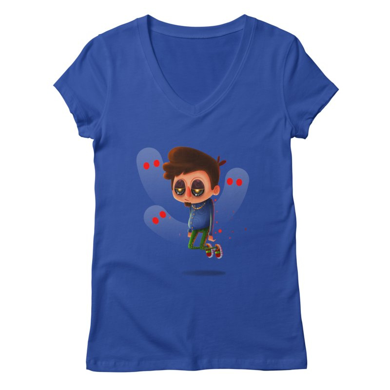 Soul Searching Women's V-Neck by mikibo's Shop