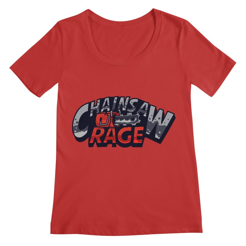 Chainsaw Rage Women's Regular Scoop Neck by mikibo's Shop