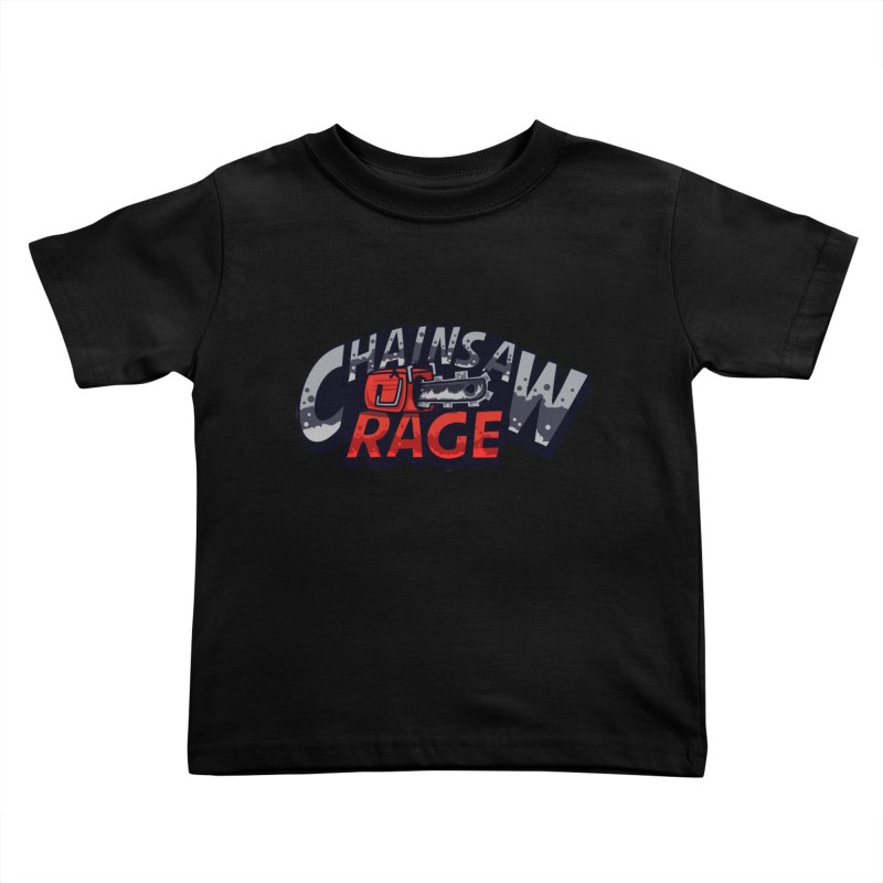 Chainsaw Rage Kids Toddler T-Shirt by mikibo's Shop