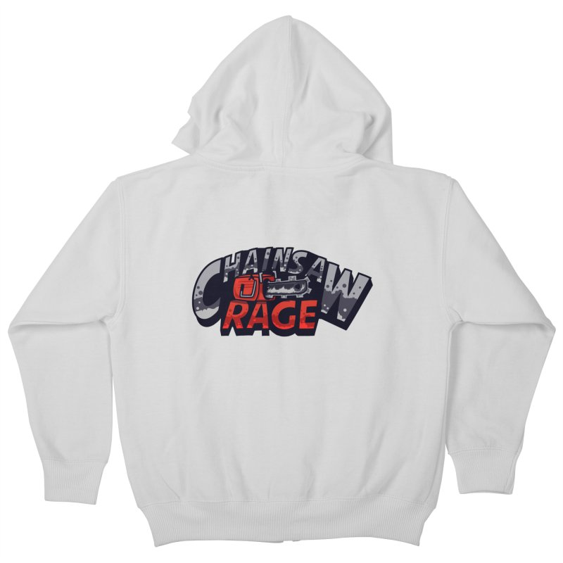 Chainsaw Rage Kids Zip-Up Hoody by mikibo's Shop
