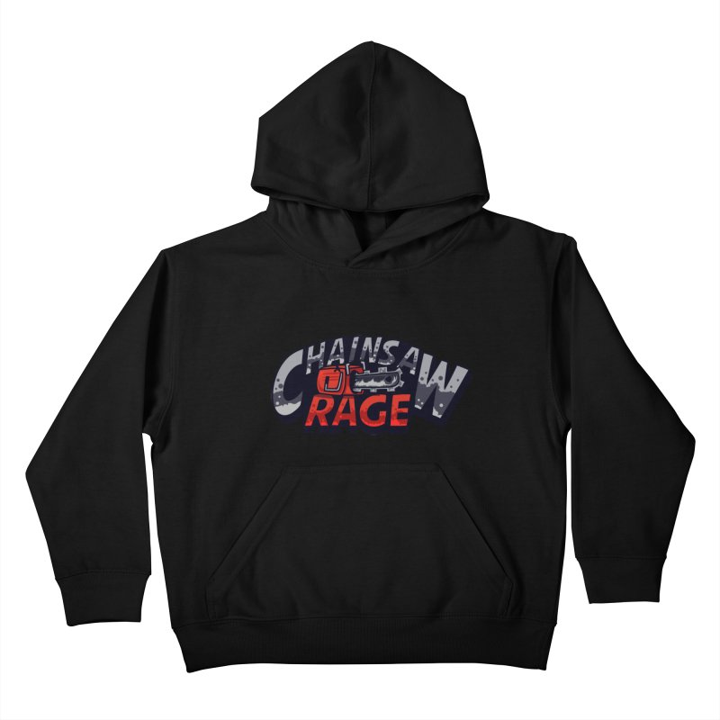 Chainsaw Rage Kids Pullover Hoody by mikibo's Shop