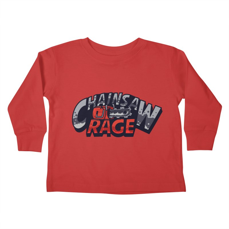 Chainsaw Rage Kids Toddler Longsleeve T-Shirt by mikibo's Shop