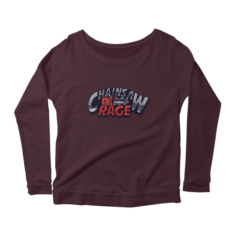 Chainsaw Rage Women's Longsleeve Scoopneck  by mikibo's Shop