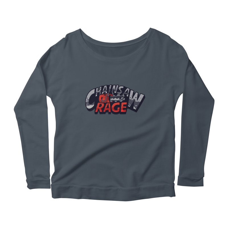 Chainsaw Rage Women's Scoop Neck Longsleeve T-Shirt by mikibo's Shop