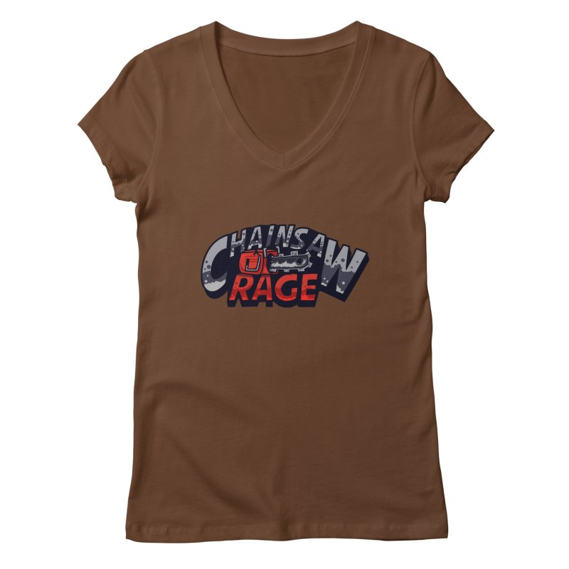 Chainsaw Rage Women's V-Neck by mikibo's Shop