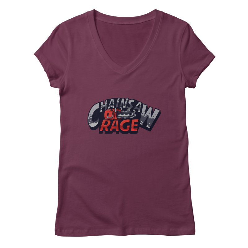 Chainsaw Rage Women's Regular V-Neck by mikibo's Shop