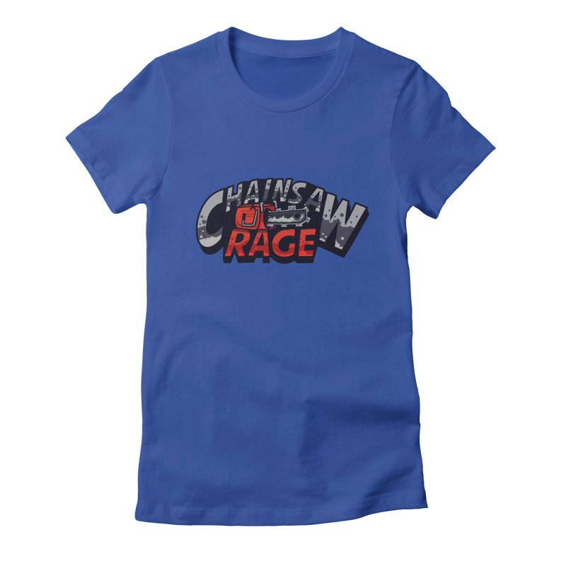 Chainsaw Rage Women's Fitted T-Shirt by mikibo's Shop