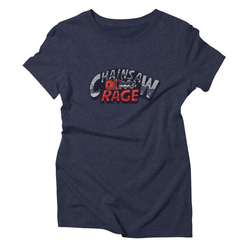 Chainsaw Rage Women's Triblend T-Shirt by mikibo's Shop