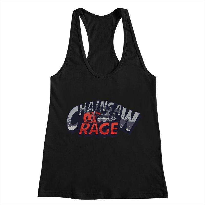 Chainsaw Rage Women's Racerback Tank by mikibo's Shop
