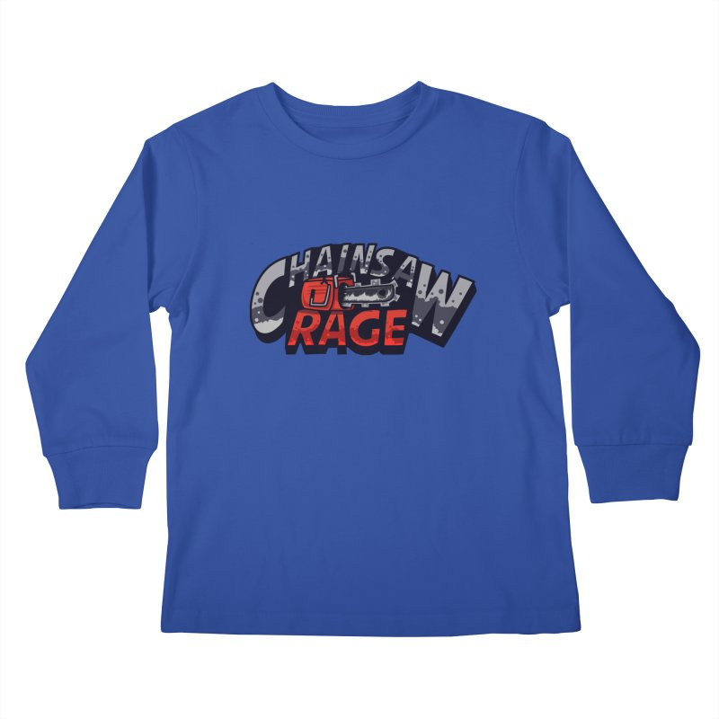 Chainsaw Rage Kids Longsleeve T-Shirt by mikibo's Shop