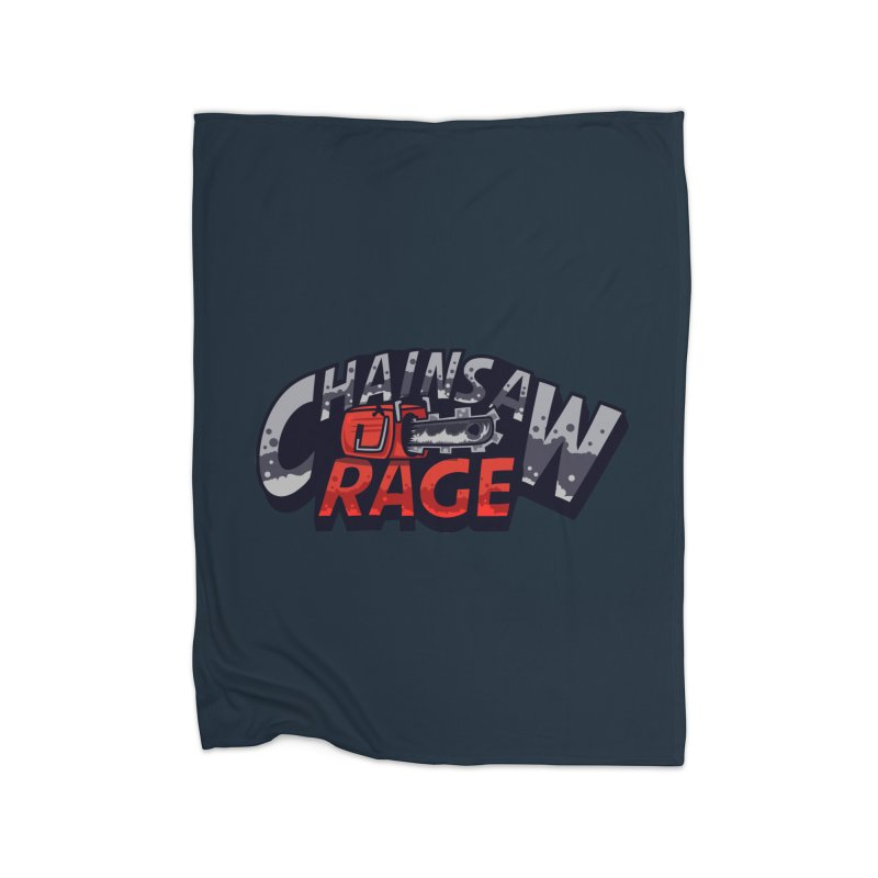 Chainsaw Rage Home Fleece Blanket Blanket by mikibo's Shop