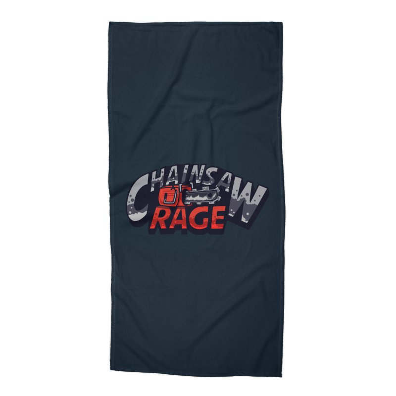 Chainsaw Rage Accessories Beach Towel by mikibo's Shop