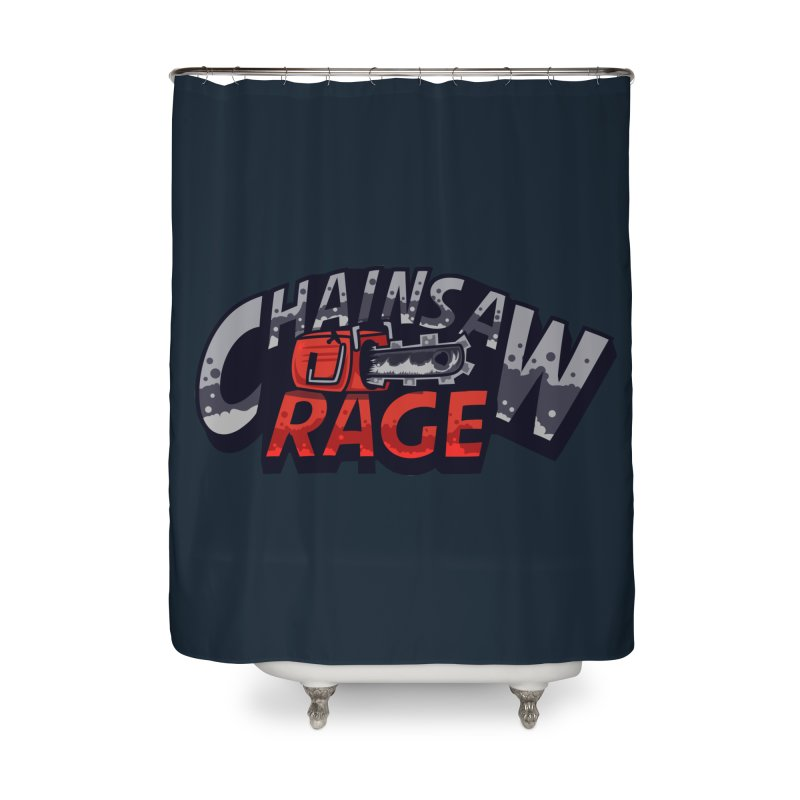 Chainsaw Rage Home Shower Curtain by mikibo's Shop