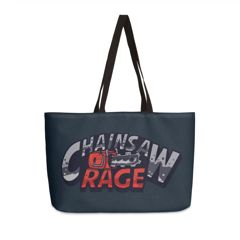 Chainsaw Rage Accessories Weekender Bag Bag by mikibo's Shop