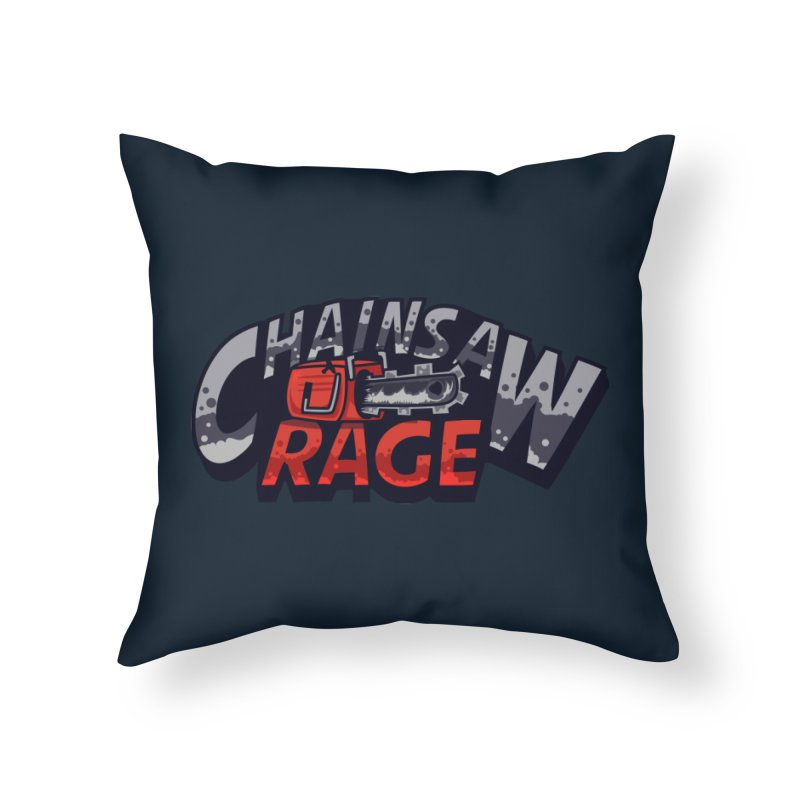 Chainsaw Rage Home Throw Pillow by mikibo's Shop