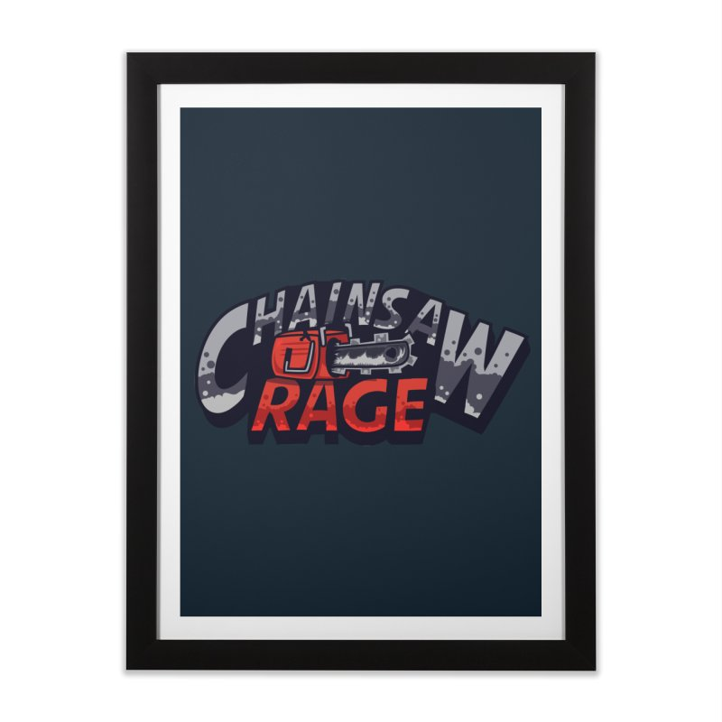 Chainsaw Rage Home Framed Fine Art Print by mikibo's Shop