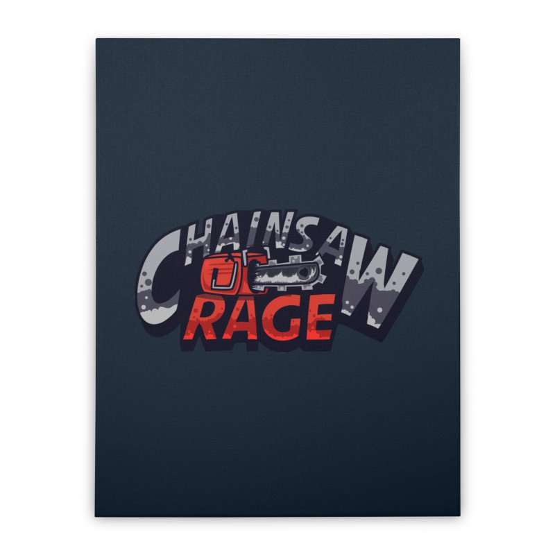 Chainsaw Rage Home Stretched Canvas by mikibo's Shop
