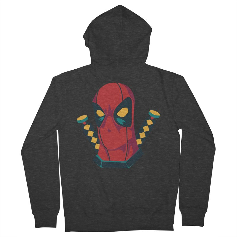 Deadpool Men's Zip-Up Hoody by mikibo's Shop