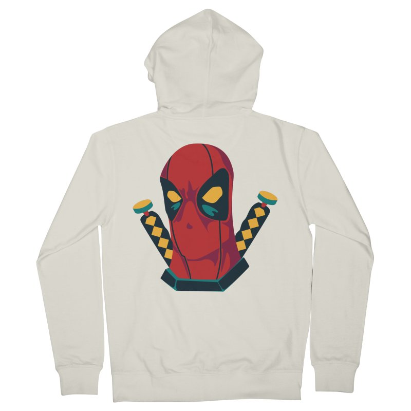Deadpool Men's French Terry Zip-Up Hoody by mikibo's Shop
