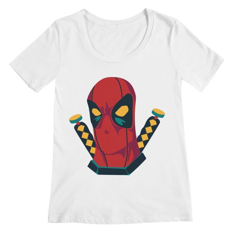 Deadpool Women's Regular Scoop Neck by mikibo's Shop