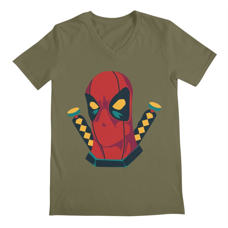 Deadpool Men's Regular V-Neck by mikibo's Shop