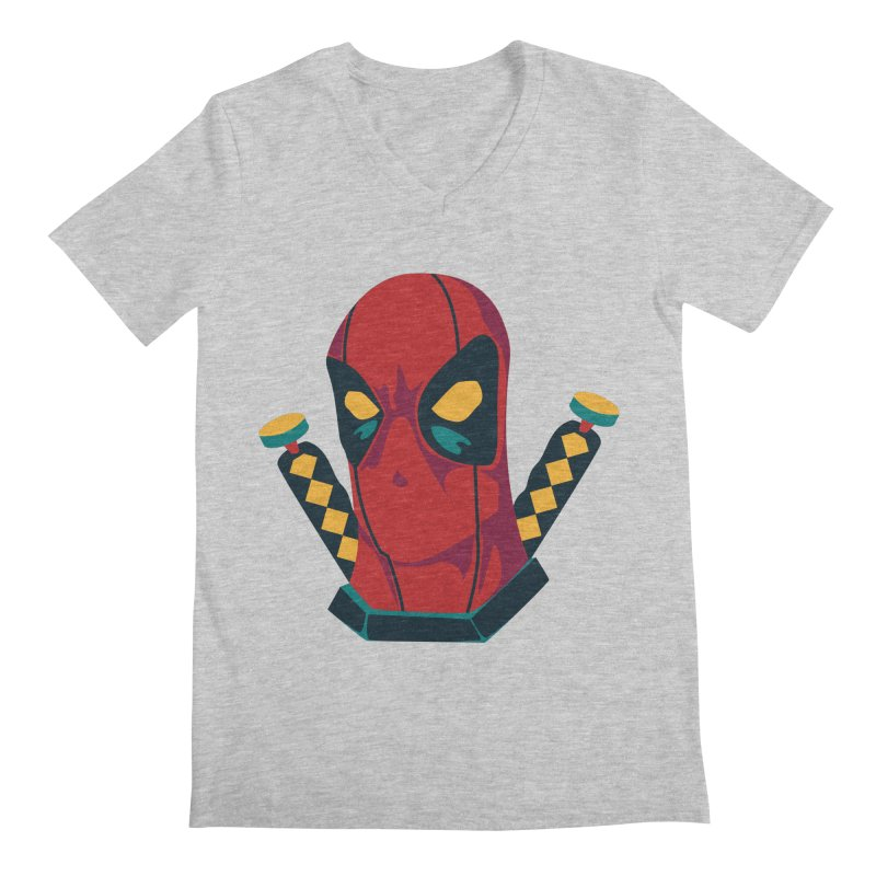 Deadpool Men's V-Neck by mikibo's Shop