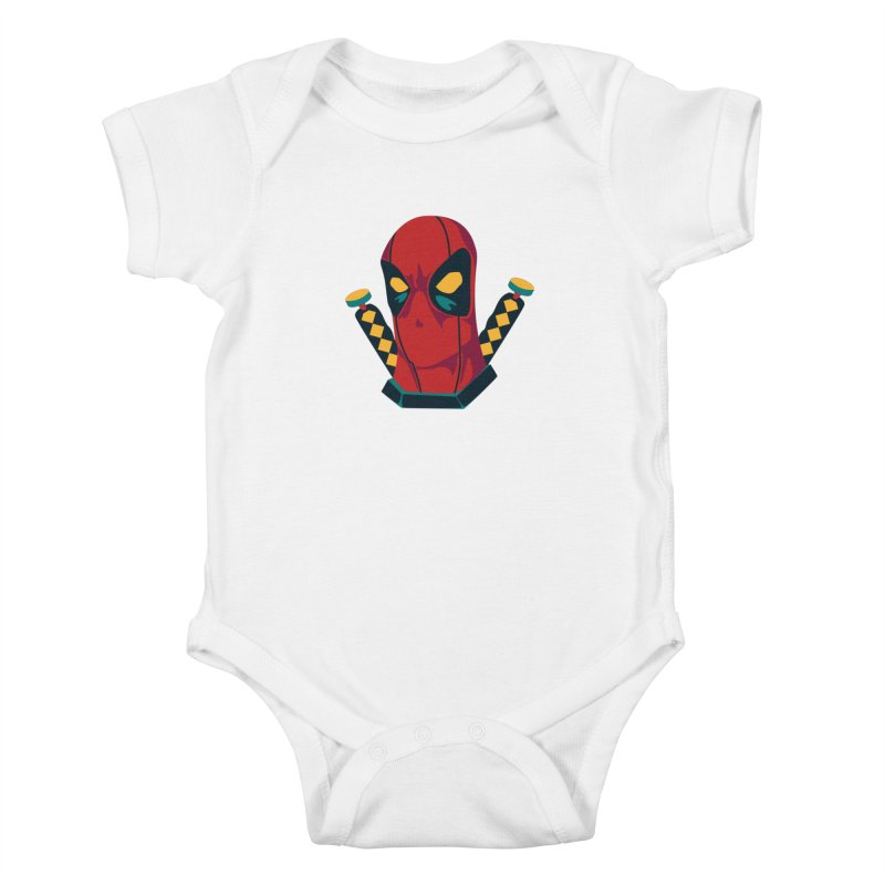 Deadpool Kids Baby Bodysuit by mikibo's Shop