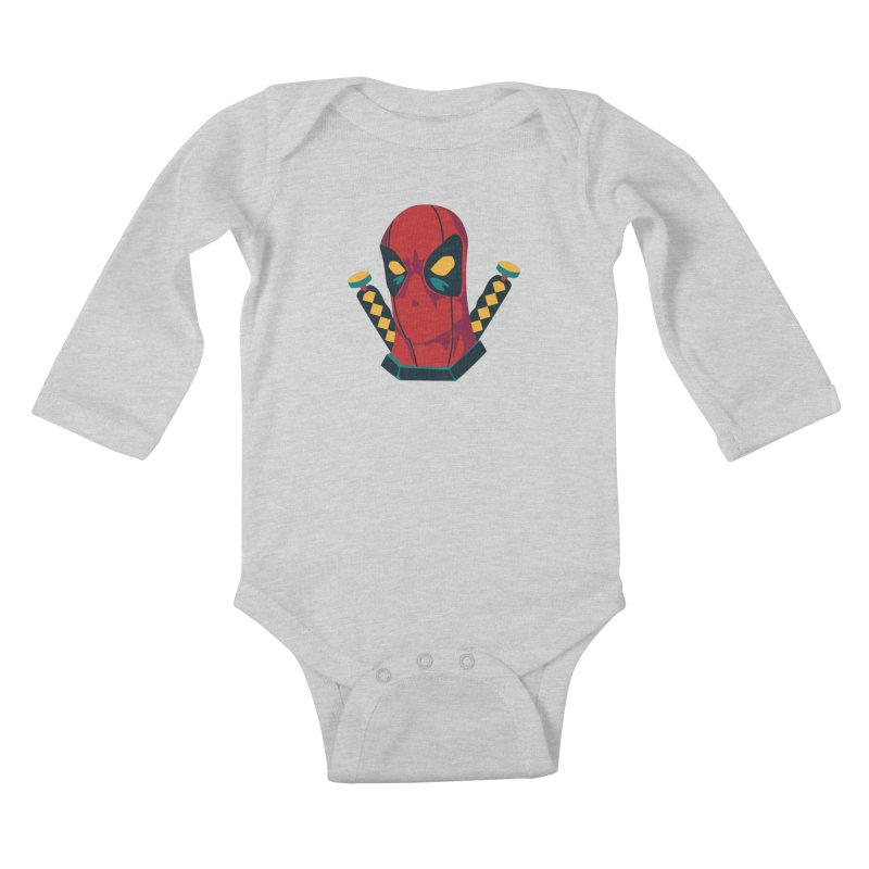 Deadpool Kids Baby Longsleeve Bodysuit by mikibo's Shop