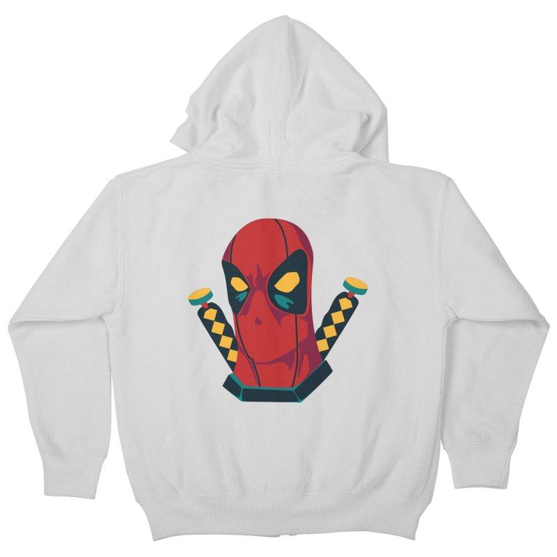 Deadpool Kids Zip-Up Hoody by mikibo's Shop