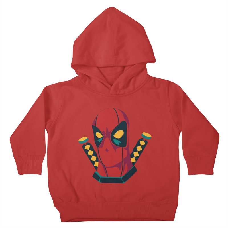 Deadpool Kids Toddler Pullover Hoody by mikibo's Shop