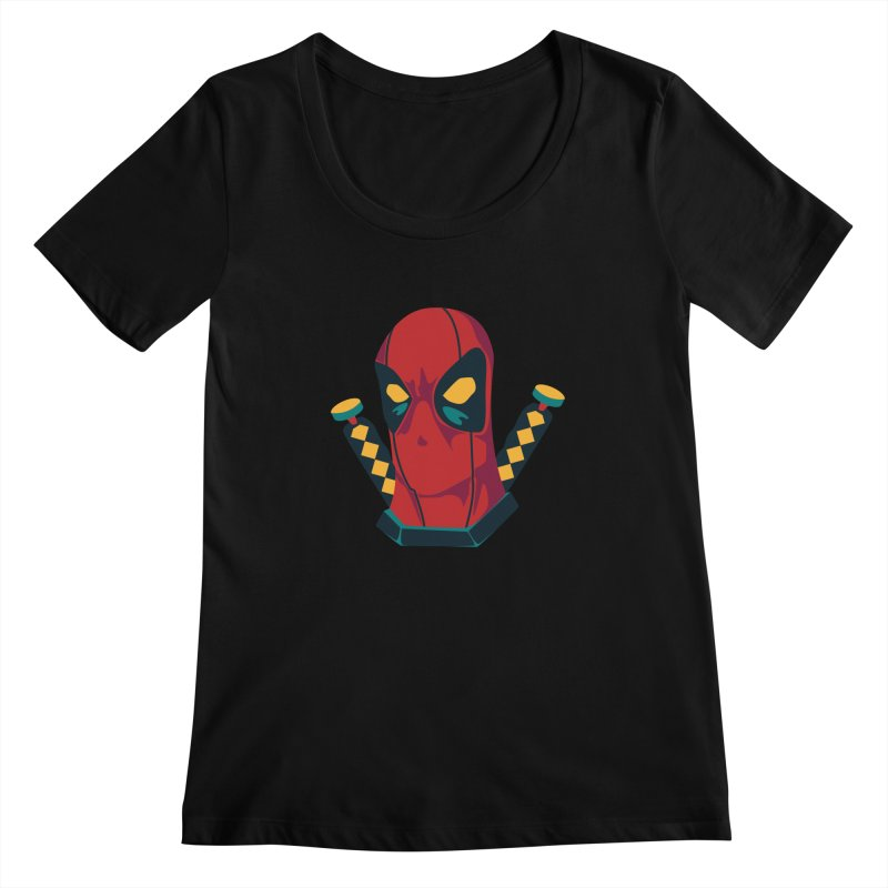 Deadpool Women's Scoopneck by mikibo's Shop