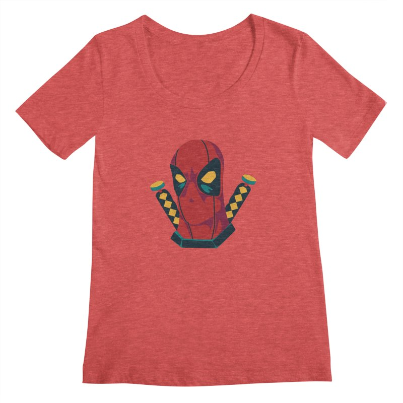 Deadpool Women's Scoopneck by mikibo's Shop