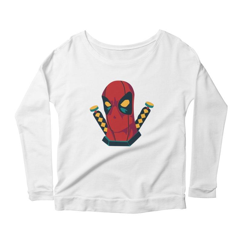 Deadpool Women's Scoop Neck Longsleeve T-Shirt by mikibo's Shop