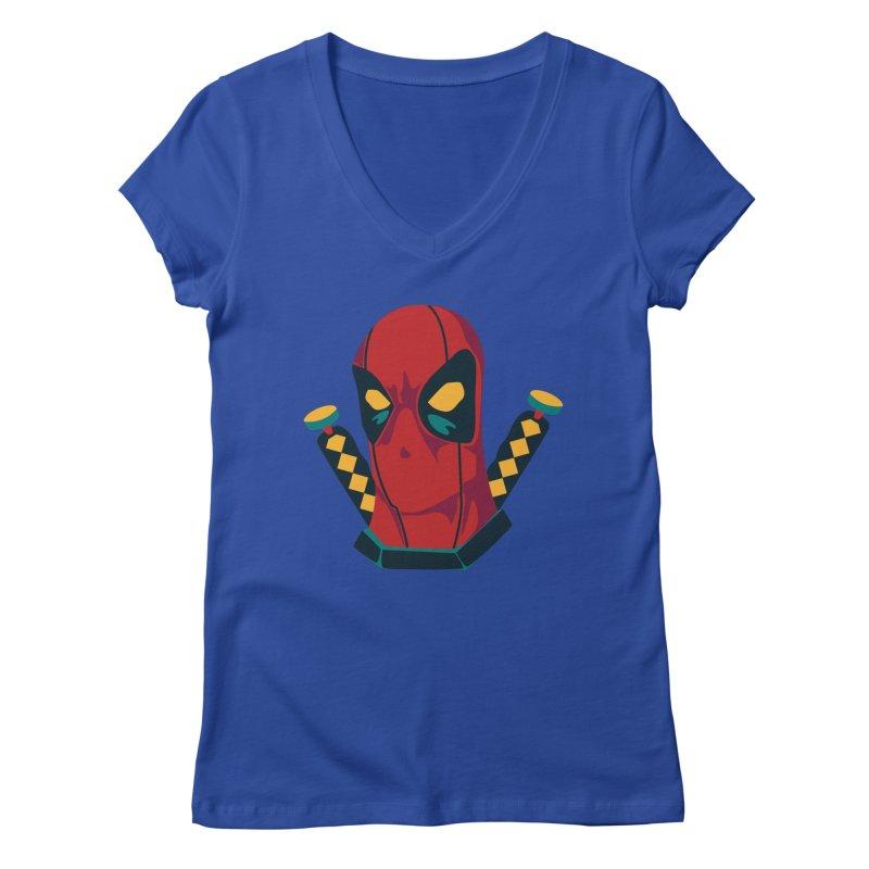 Deadpool Women's V-Neck by mikibo's Shop