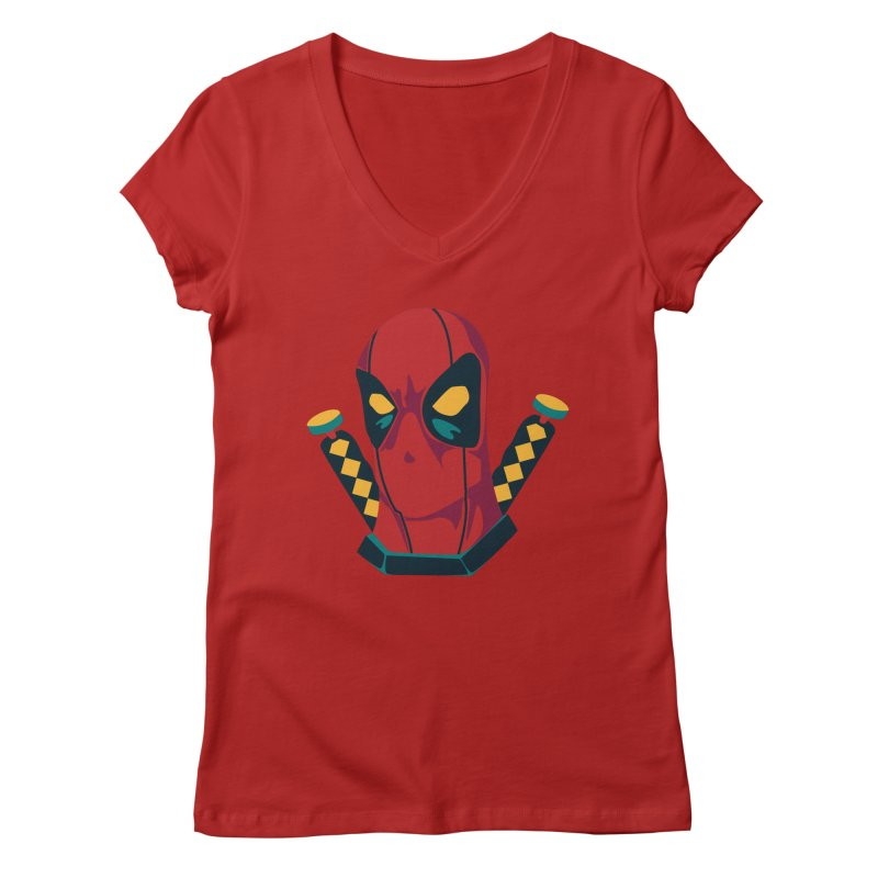 Deadpool Women's V-Neck by mikibo's Shop