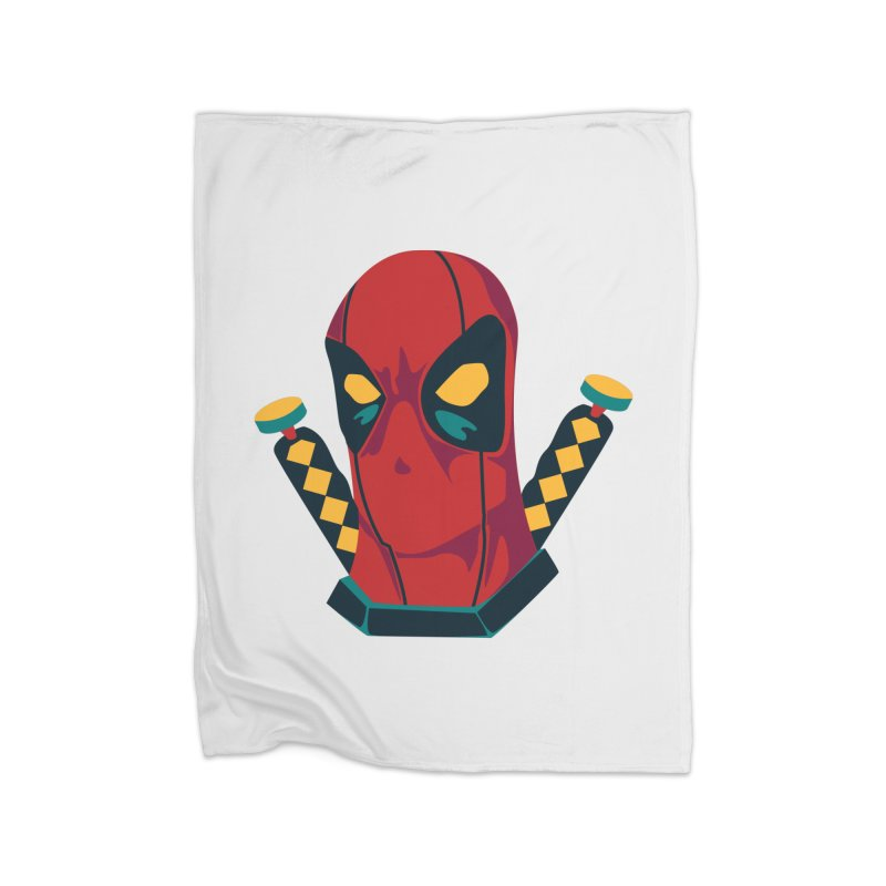 Deadpool Home Fleece Blanket Blanket by mikibo's Shop