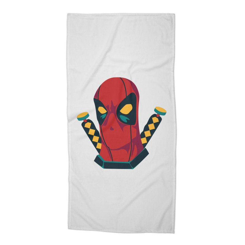 Deadpool Accessories Beach Towel by mikibo's Shop