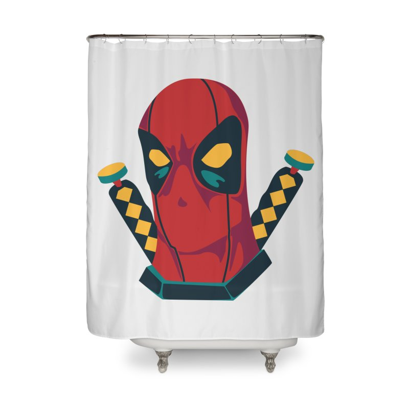Deadpool Home Shower Curtain by mikibo's Shop