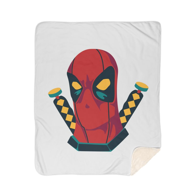 Deadpool Home Sherpa Blanket Blanket by mikibo's Shop