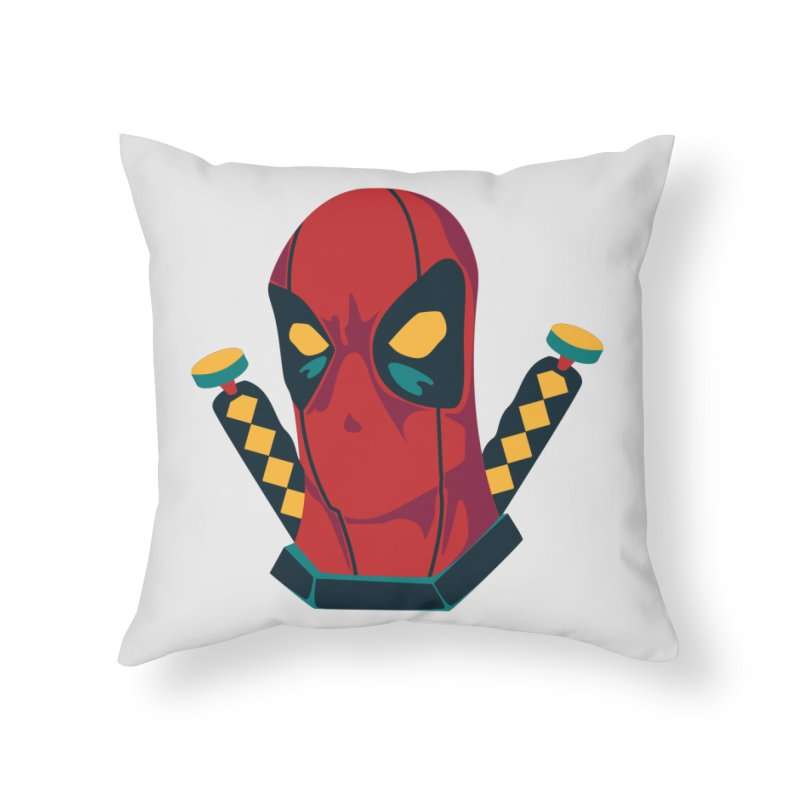 Deadpool Home Throw Pillow by mikibo's Shop