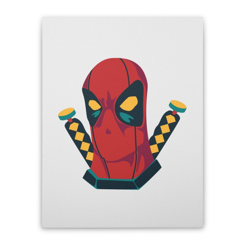 Deadpool Home Stretched Canvas by mikibo's Shop