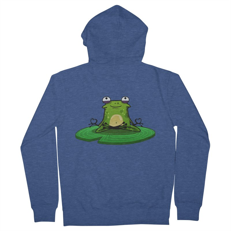 Sensei the Frog Men's French Terry Zip-Up Hoody by mikibo's Shop