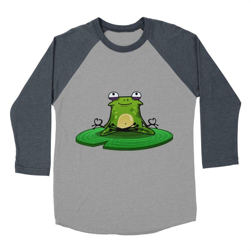 Sensei the Frog Men's Baseball Triblend T-Shirt by mikibo's Shop