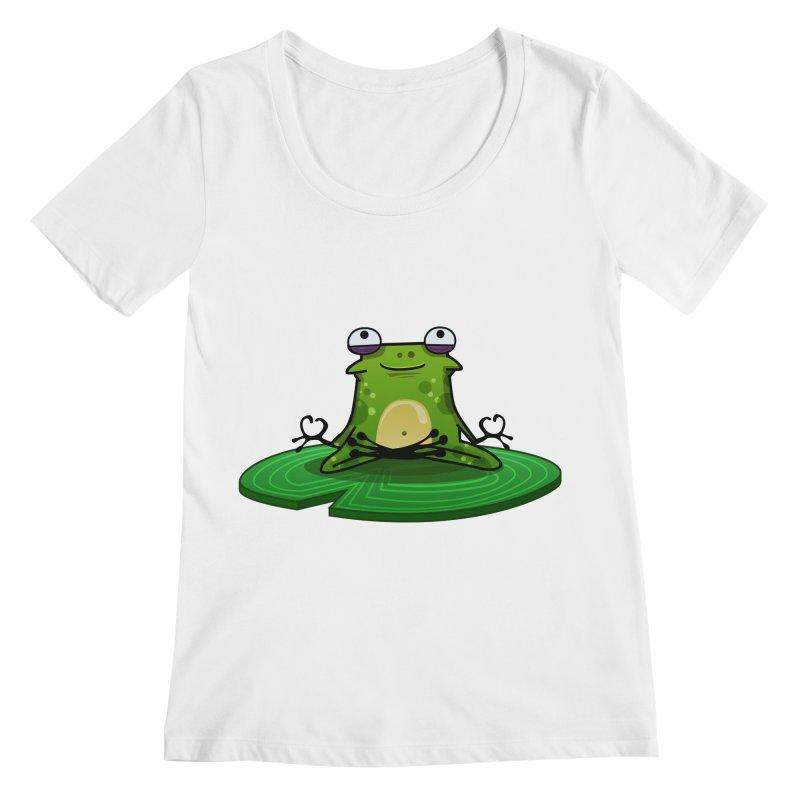 Sensei the Frog Women's Regular Scoop Neck by mikibo's Shop