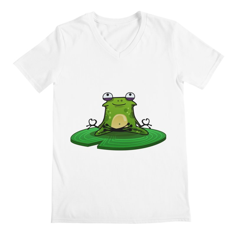 Sensei the Frog Men's Regular V-Neck by mikibo's Shop