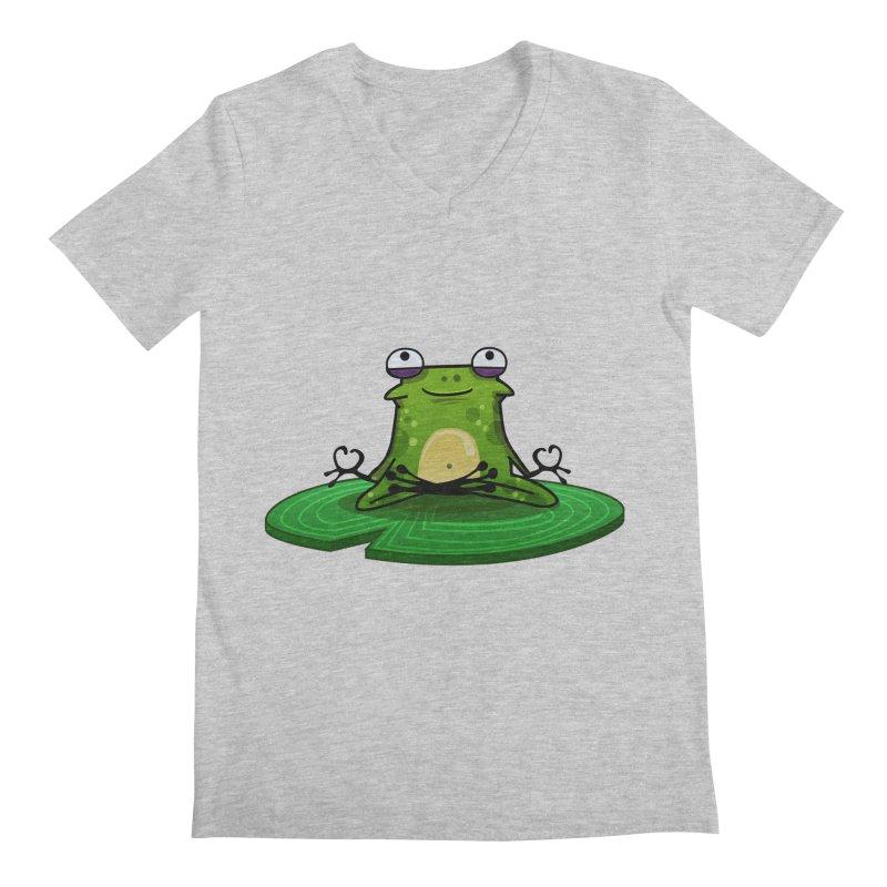 Sensei the Frog Men's Regular V-Neck by mikibo's Shop