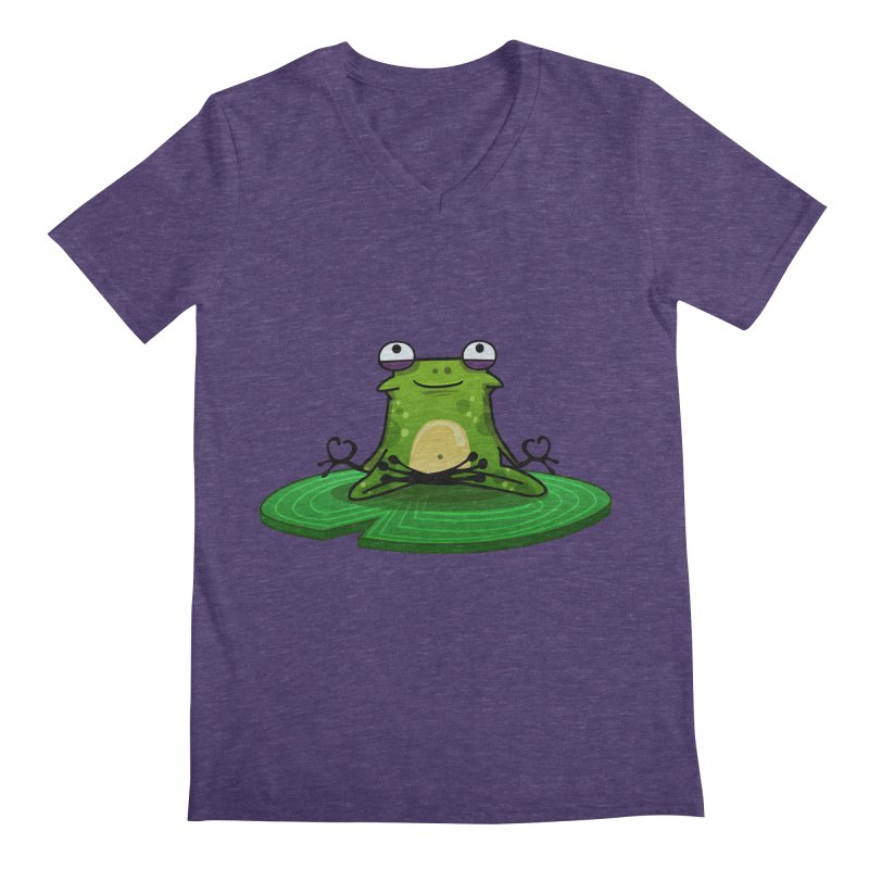 Sensei the Frog Men's V-Neck by mikibo's Shop
