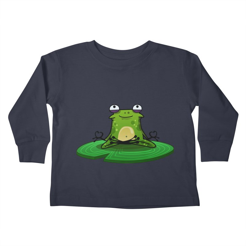 Sensei the Frog Kids Toddler Longsleeve T-Shirt by mikibo's Shop