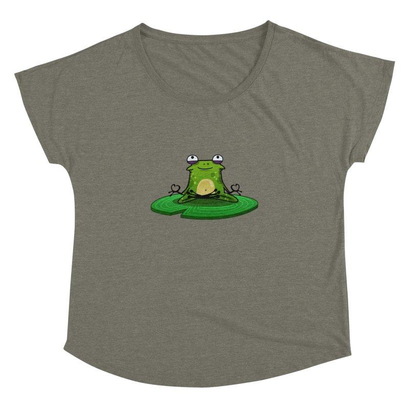 Sensei the Frog Women's Dolman Scoop Neck by mikibo's Shop