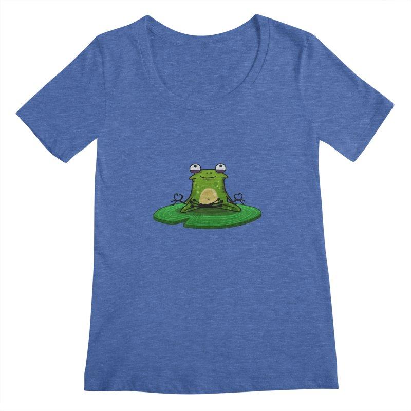 Sensei the Frog Women's Scoopneck by mikibo's Shop